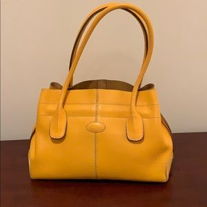 Tod's Leather Small D-Bag Media Tote Like New